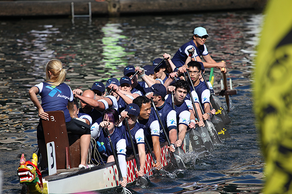 Blackwattle Bay Dragon Boat Club has successfully trained corporate dragon boat teams